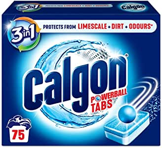 Calgon 2-in-1 Water Softener Pack of 1 (Total 75 Tablets), Multicolour, Count
