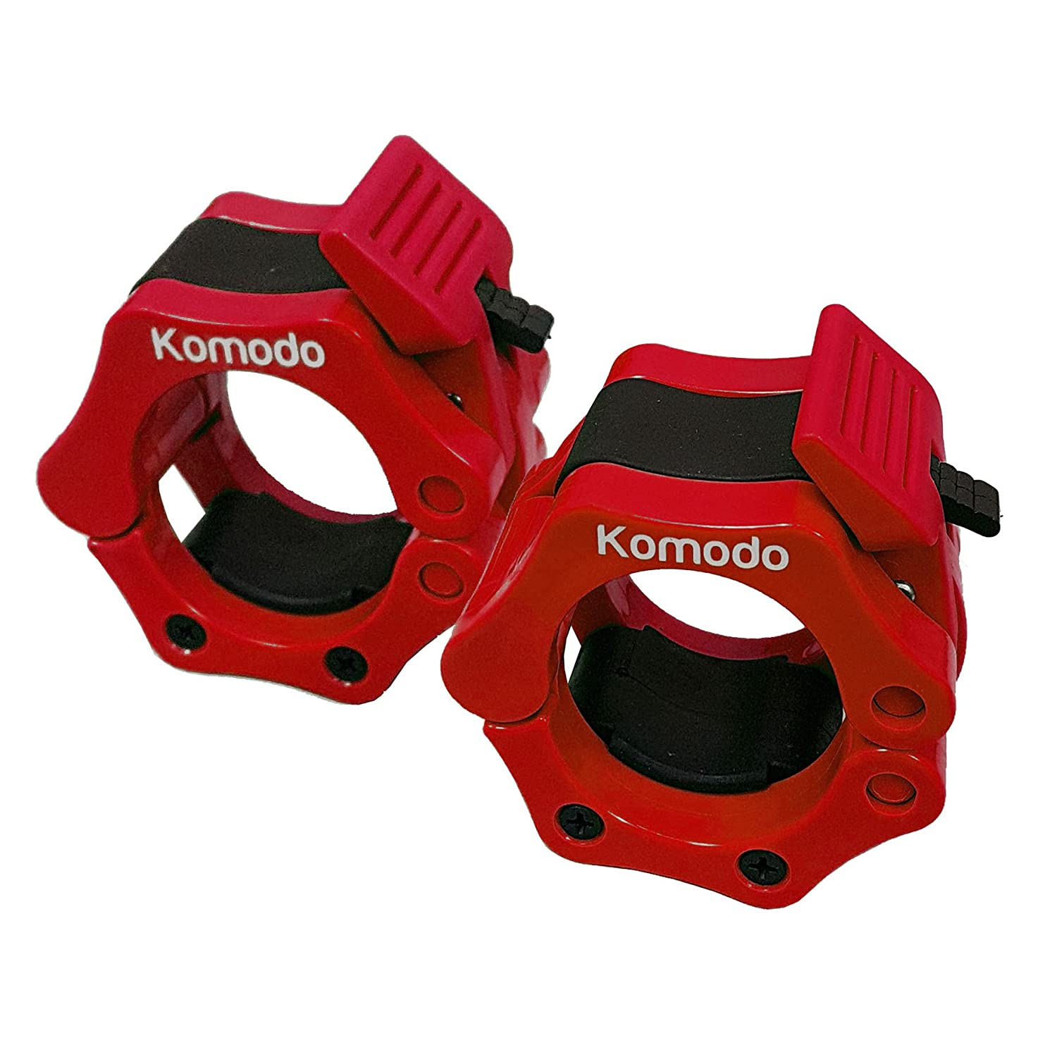 Komodo Olympic Barbell Collars 2 inch 50mm Dumbell Bar Clamps Weight Lifting