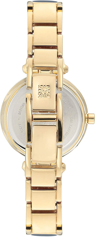 Anne Klein Women's Diamond-Accented Bangle Watch Blue/Gold