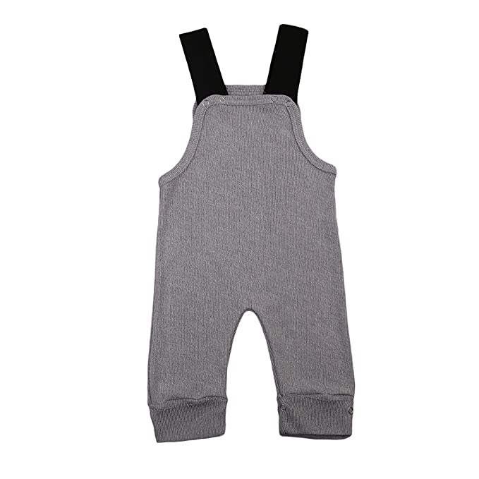 9255a7c4f6d8 Amazon.com  Imcute Baby Boys Girls Strap Grey Kintted Sweater Romper ...