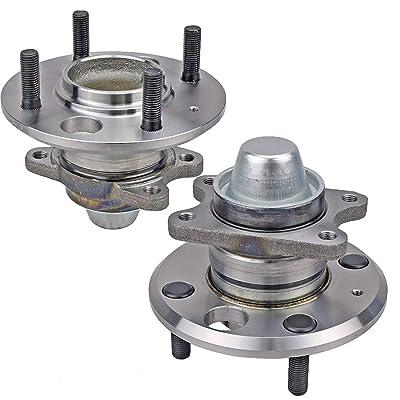 Bodeman - Pair 2 Rear Wheel Hub & Bearing Assembly without ABS for 2001-2006 Kia Optima/for 1999-2005 Hyundai Sonata: Automotive