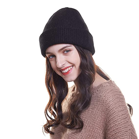 Welrog Beanie Knit Hat for Women Men Cuffed Plain Skull Hat Fancy Cap   Amazon.ca  Clothing   Accessories 1425b94f1528