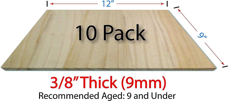 OldBleu 木製ブレーキングボード - 8 mm 10個パック - 約 9インチx12インチ (225 x 298 mm) - 桐無垢材 - 空手 - テコンドー
