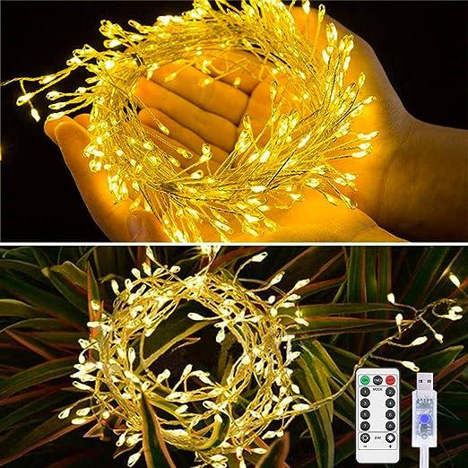 Guirnalda Luces Navidad Cadena de Luz Petardo USB 4M/200 LED ...
