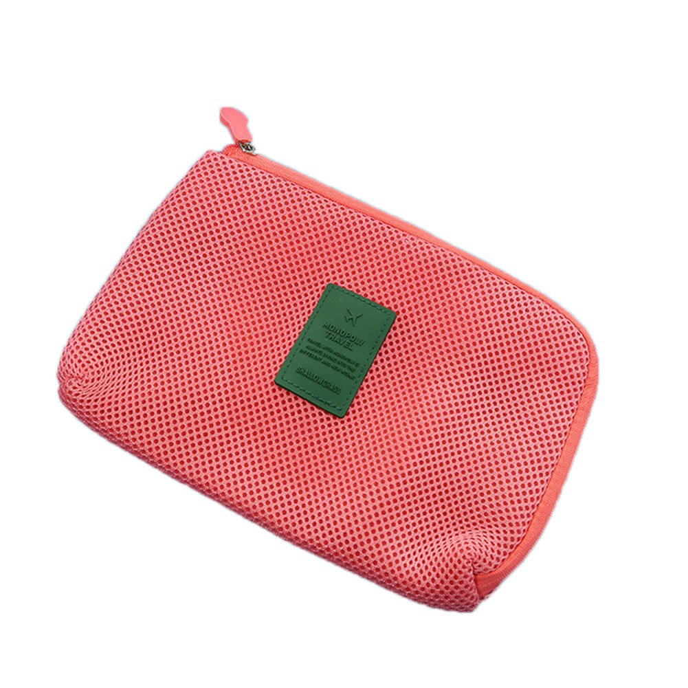 drawihi Fácil de nailon Grid de Storage Paquete de cargador de viaje Cable de datos multifuncional bolsa neceser lápiz bolsa