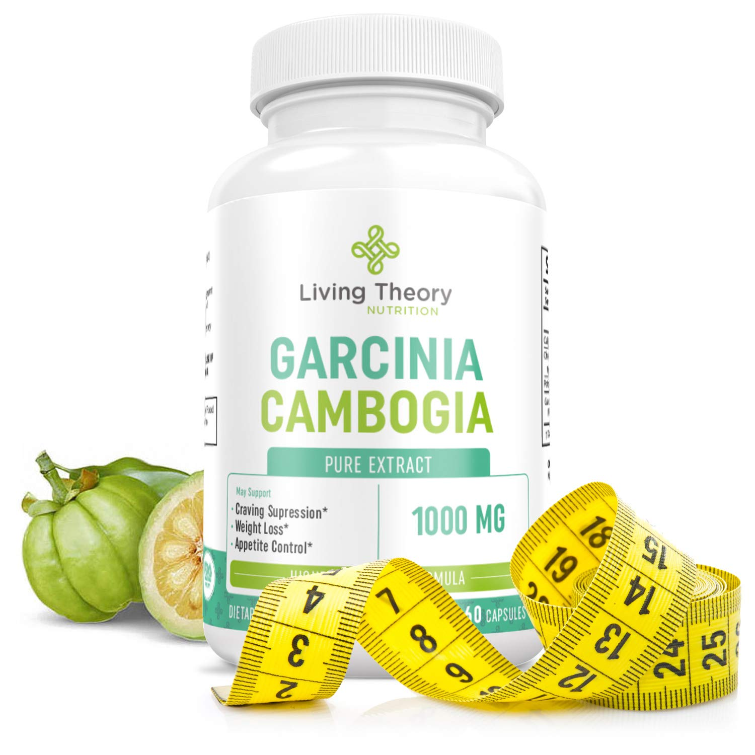 100 Pure True Slim Garcinia Cambogia Weight Loss Extract Appetite Suppressant For Weight