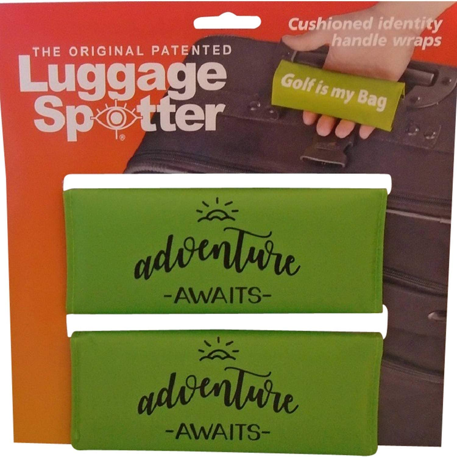 Great Gift! Luggage Spotter NOT Your Bag Lime Green Luggage Handle Wrap//Luggage Tag 2 Pack