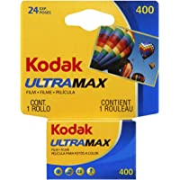 Kodak UltraMax 400 Color Negative Film (35mm Roll Film, 24 Exposures)- 6034037, Yellow, Blue, Black, Red