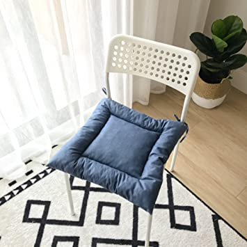Gut LJu0026XJ Esszimmer Stühle Kissen,Baumwolle Kissen Verdickt Solide Farbe  Stuhlkissen Mit Krawatten Sitzkissen Für Büro