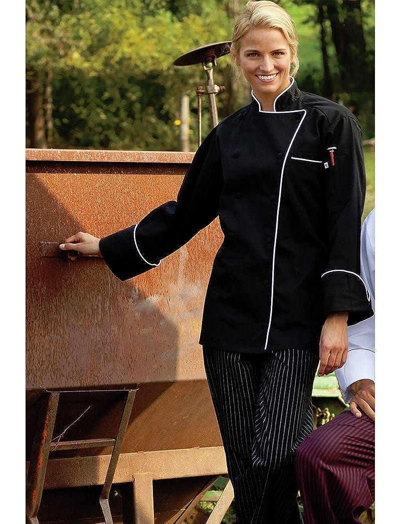 Uncommon Threads Womens Murano Executive Coat W//Piping 65//35 Uncommon Threads Womens Uniforms 0432