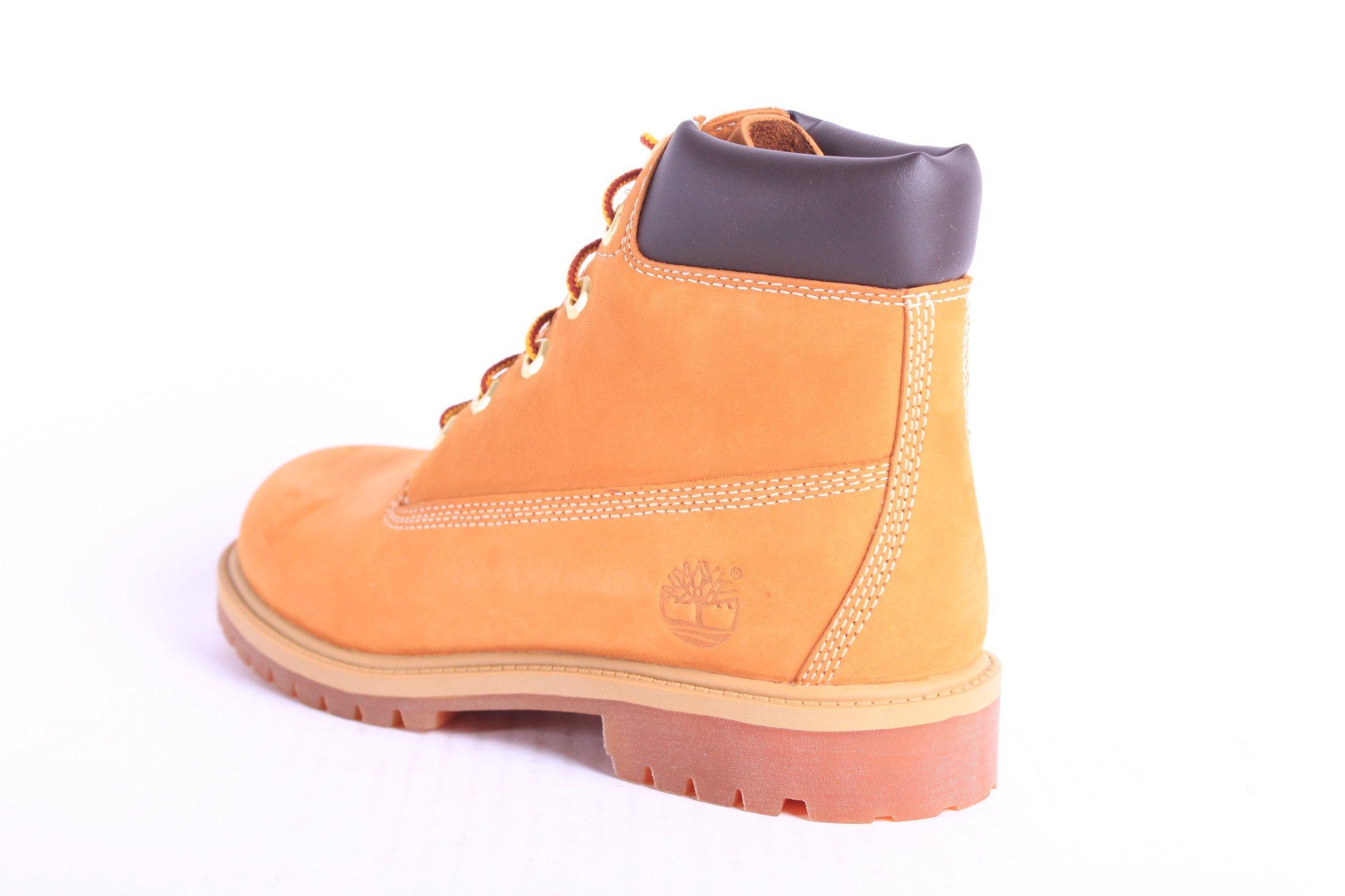Timberland 6'' C12907 Premium Waterproof Boot,Wheat Nubuck,6.5 M US Big Kid