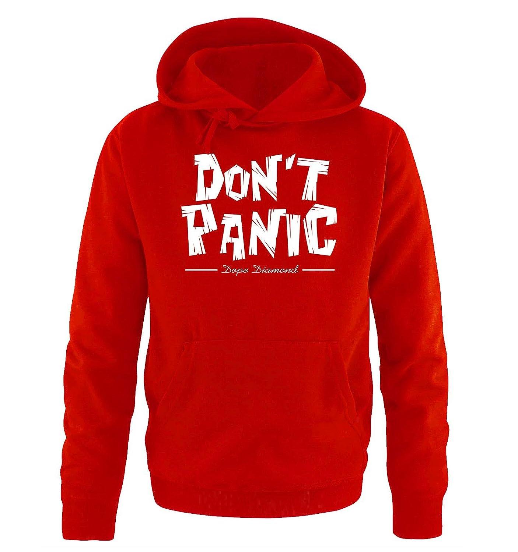 Comedy Shirts - Dont Panic - Dope Diamond - Hombre con Capucha - Rojo/Blanco tamaño XXL: Amazon.es: Deportes y aire libre