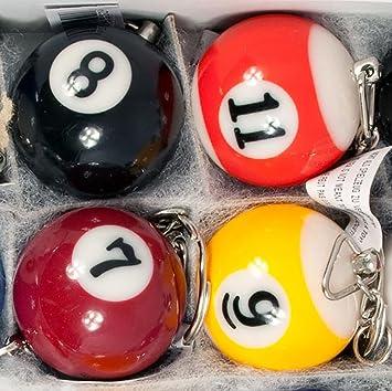 16 x Llavero Bola bolas de billar de billar billar bola: Amazon.es ...