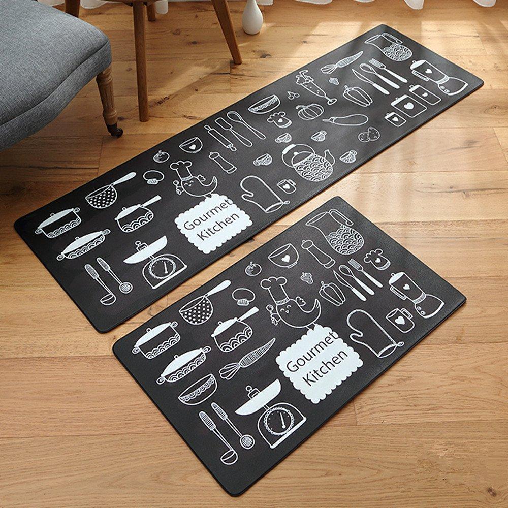 Ustide Gourmet Kitchen Doormats,Non-Slip Rubber Back Floor Mats,17.7