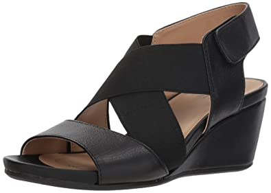 2229624bb69 Naturalizer Women s Cleo Wedge Sandal Black 4 ...