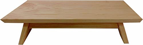 EarthBench Pedestal Stand Unfinished Pine Shrine Table: 20″ 11″ Wide
