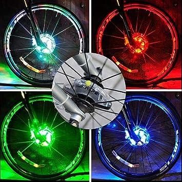 zhichu985 Luces de Rueda de Bicicleta LED Buje de luz Led Luces de ...