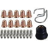 PR0110 plasma Electrodo PD0116-08 boquillas de corte 0,8 y PC0116 CV0010 Fit Trafimet S45 cortador del plasma 22pcs