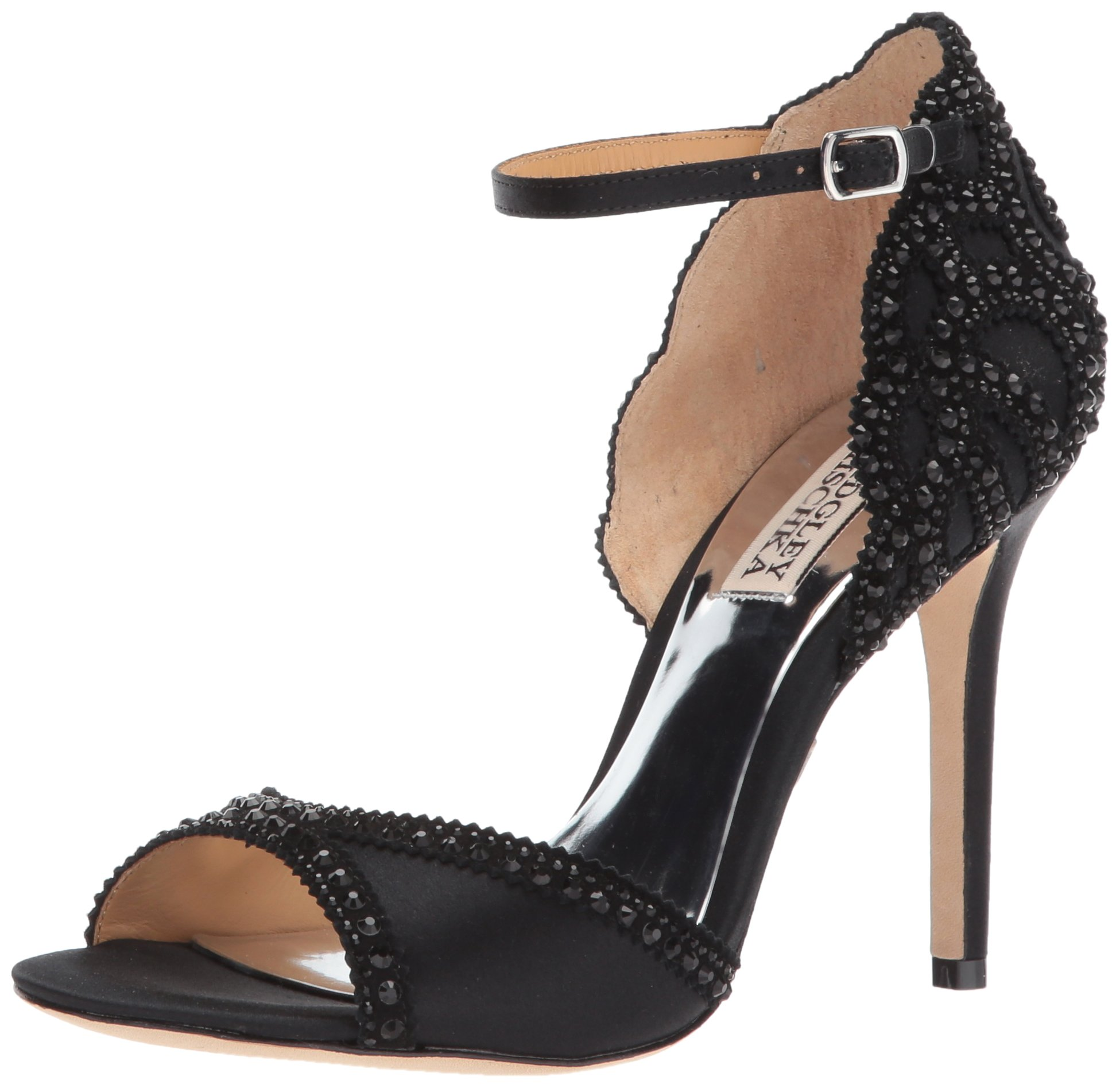 Badgley Mischka Women's Roxy Heeled Sandal, Black, 6.5 M US