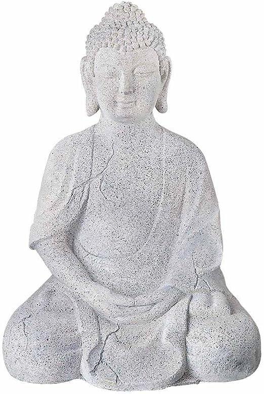 Jardín Figura Buda, 50 cm, piedra: Amazon.es: Jardín