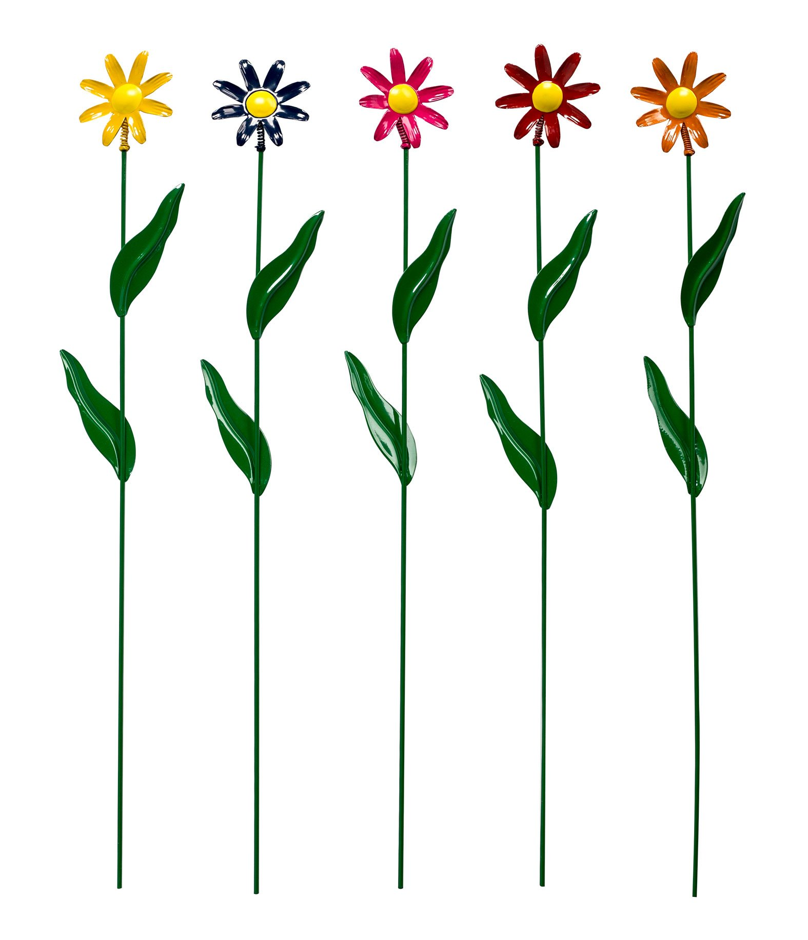 Metal Daisy Stakes, Set of 5 by Maple Lane CreationsTM by Miles Kimball (Image #1)