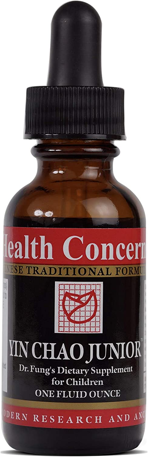 Health Concerns - Yin Chao Junior - Dr. Fung's Cold Formula for Children - Chinese Herbal Supplement - Digestive and Immune System Health for Children - with Forsythia Fruit - 1 fl oz