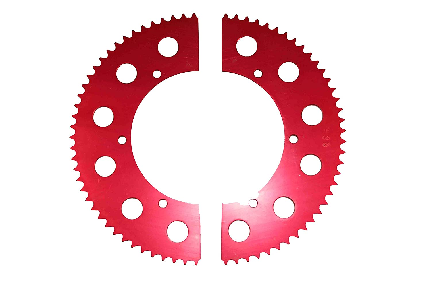 70, Red Go Kart Racing Sprocket For Use with #35 Chain Aluminum 2-piece