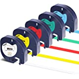 Colorty Compatible Label Tape Replacement for DYMO LetraTag Refills Plastic Tape 91331 91332 91333 91334 91335 for Dymo Letra