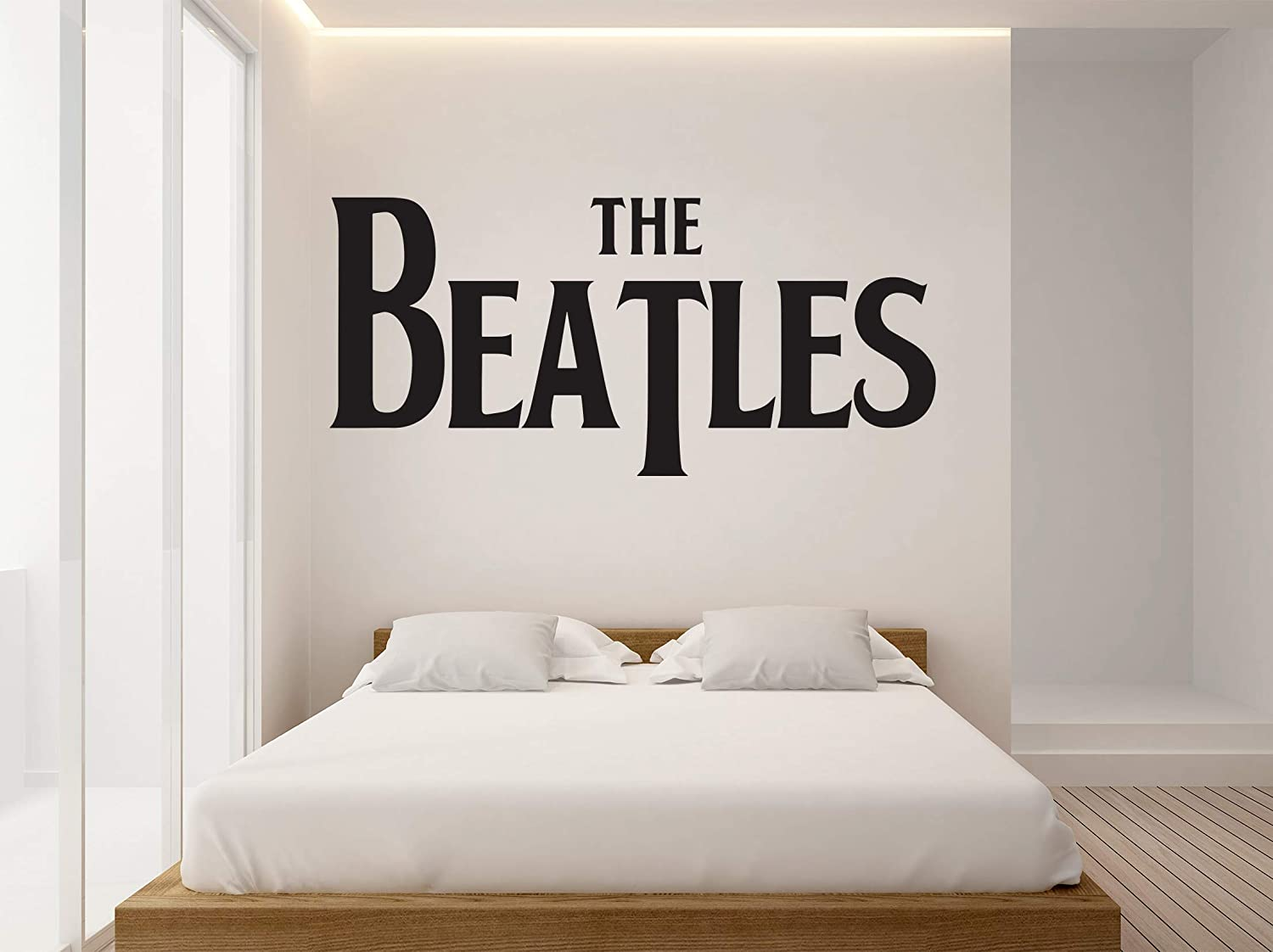 "The Beatles Logo - Wall Decal Bedroom, Home Interior Decoration Car Laptop (30"" x 14"")"