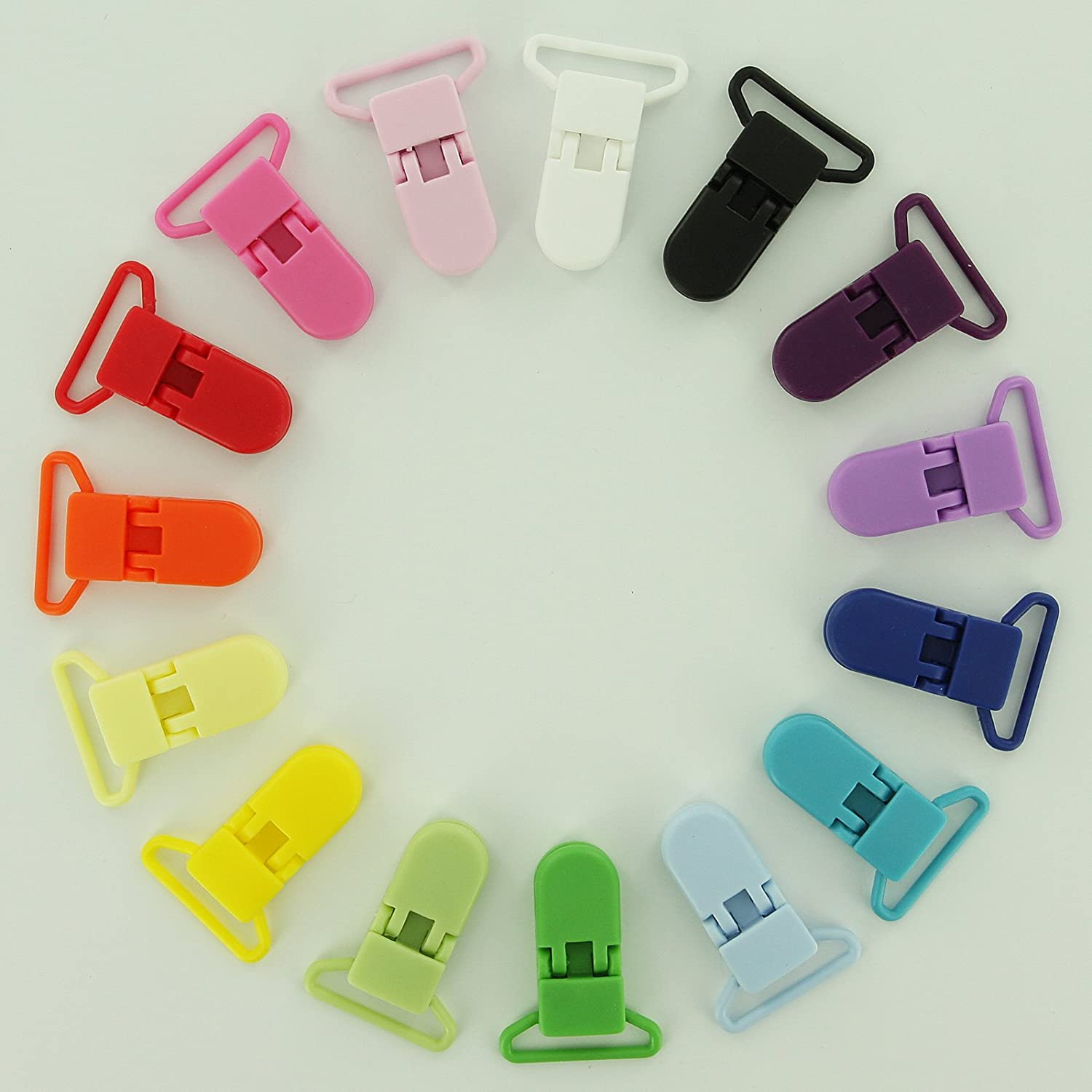 10pcs t type pacifier suspender holder buckle dummy soother clips 25m/%d
