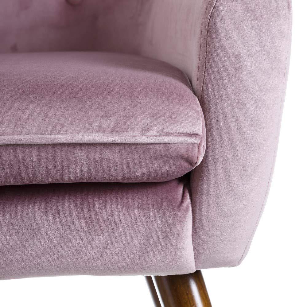 Sillón tapizado de Terciopelo Lila clásico para salón France - LOLAhome: Amazon.es: Hogar