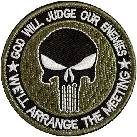 WZT Lot Militar bordado PATCHE Velcro moral parches de tela insignias táctico PATCHE para tapa bolsa chaquetas parche de el Castigador: Amazon.es: Juguetes y juegos
