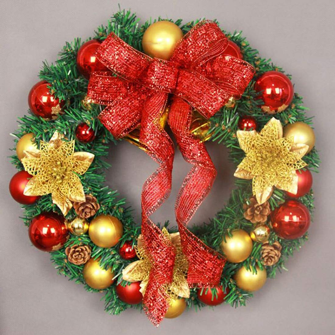 STORE-DECORATIVE - Christmas Decorations For Home Door and Window Decorations Christmas wreath Luxury Merry Christmas Party Ball Bell Garland