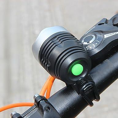 Bicycle Bike Headlight Head Light Battery Powered black