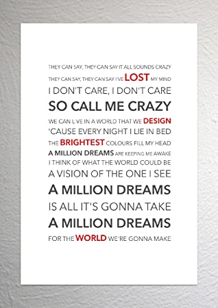 image regarding A Million Dreams Lyrics Printable titled Ziv Zaifman (Most significant Showman) - A Million Desires - Funky