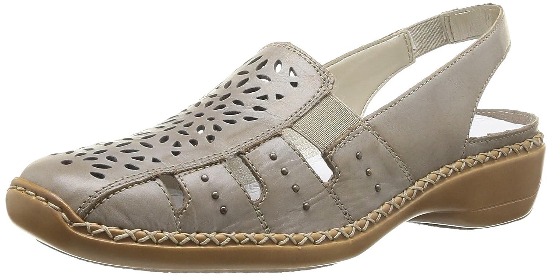 Rieker 41390 62 - Zapatos de cuero para mujer, color beige, talla 36
