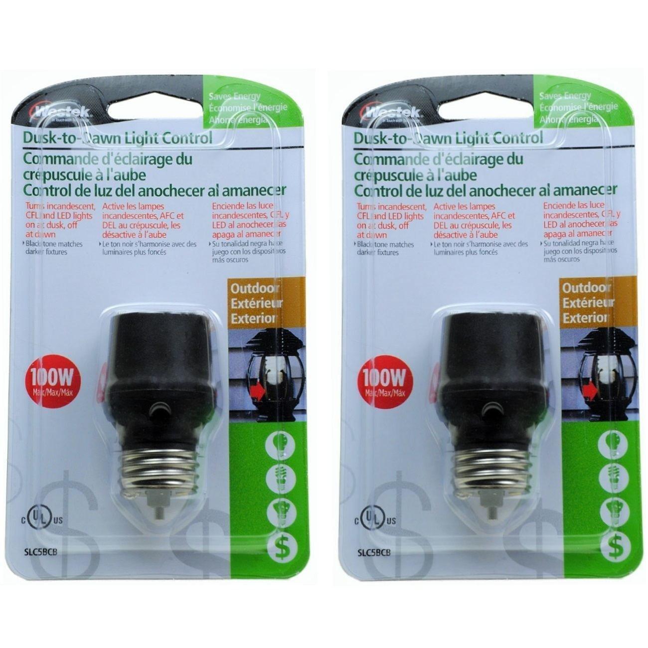 Automatic dusk to dawn light control - Westek Slc5bcb Outdoor Indoor Dusk To Dawn Light Control For Cfl Led Bulbs Light Sockets Amazon Com