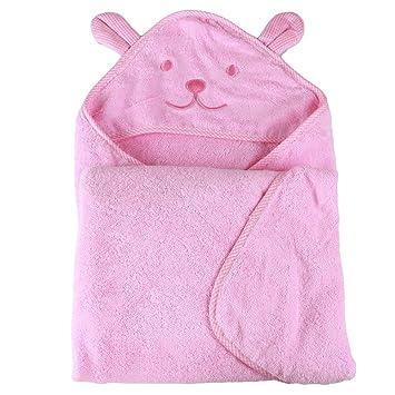 Golden Rule Toallas de bebé de alta calidad con capucha para niñas Toallas de bambú súper absorbentes ultra suaves para recién nacidos y niños(rosa): ...