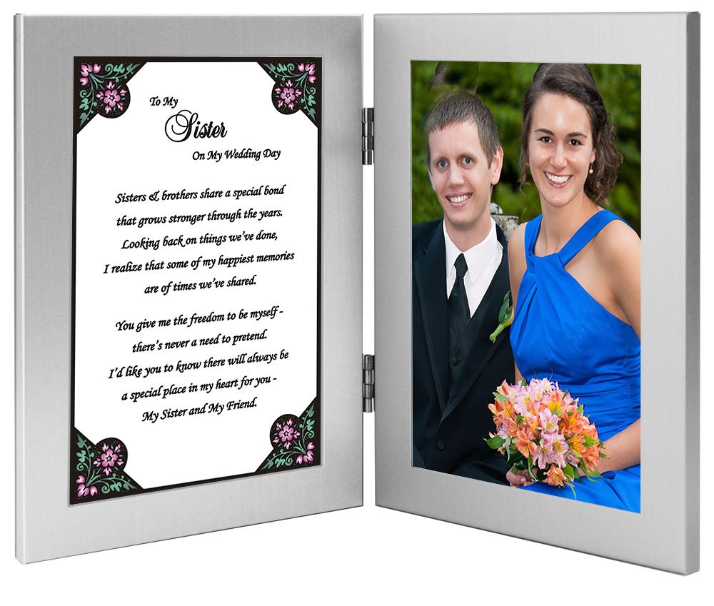 Amazon To My Sister On My Wedding Day Sister Gift From