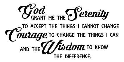 Amazon.com: Serenity Prayer Wall Decal is A Removable Vinyl ...
