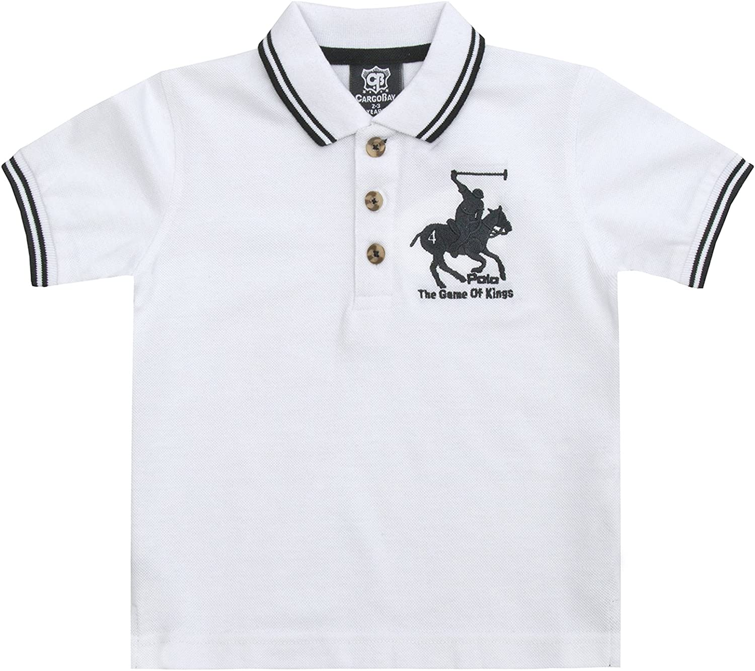 Strong Souls - Polo - Manga Corta - para niño Blanco Polo Shirt ...