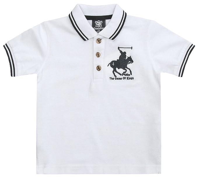 Strong Souls - Polo - Manga Corta - para niño Blanco Polo Shirt ...