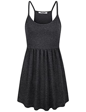 57a06f185135c Hibelle Cami Tank Tops for Women, Summer Flowy Top Spaghetti Strap  Racerback Pleated Empire Waist