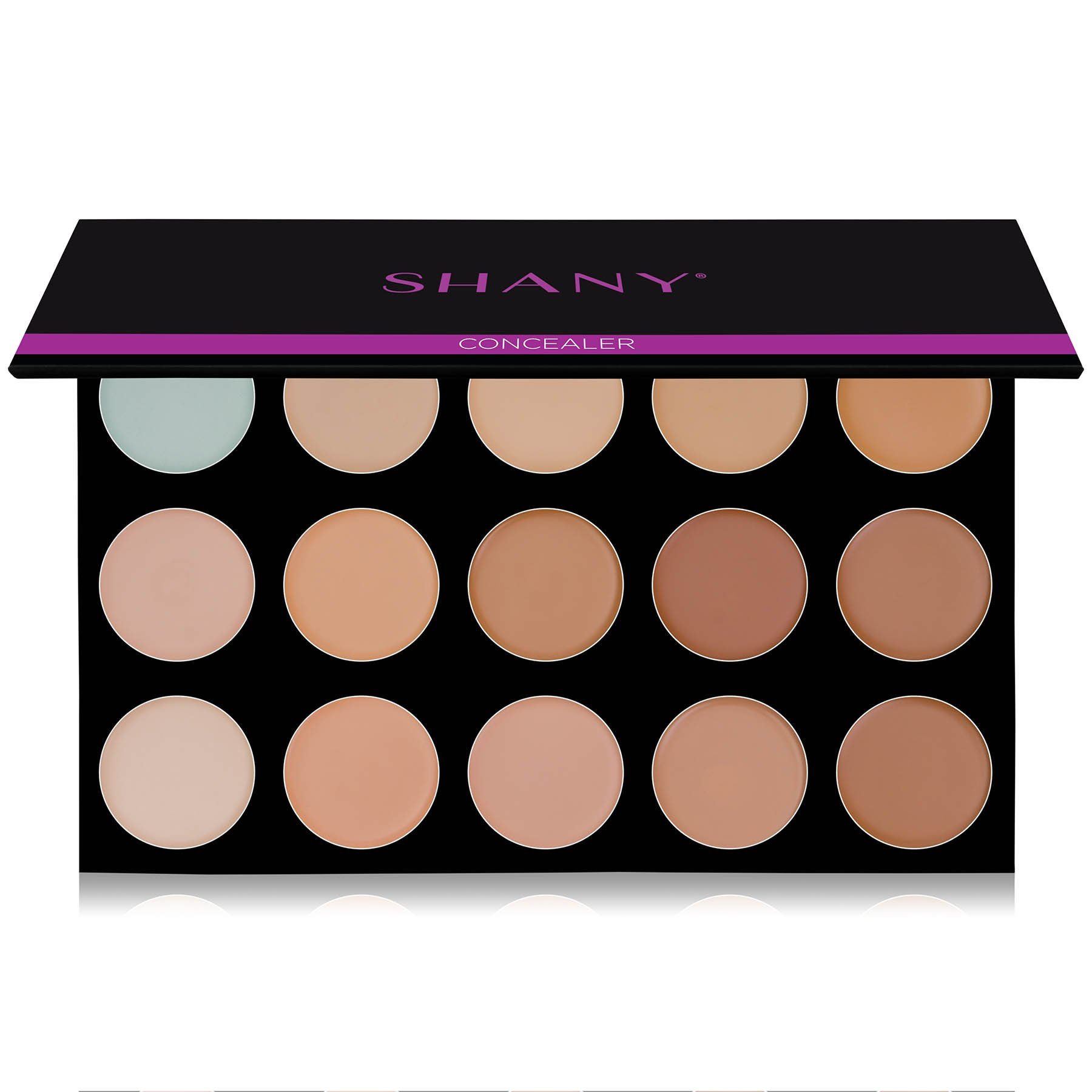 SHANY Masterpiece 15 Color Foundation, Concealer, Camouflage Palette/Refill -TONED