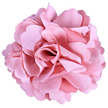 Amazon anleolife fabric pink flower hair clips corsage brooch anleolife fabric pink flower hair clips corsage brooch hairpinshair barrettes for women headwear 6pcs mightylinksfo