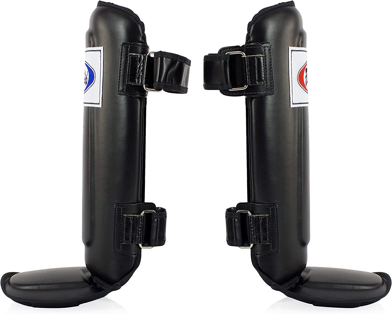 Fairtex Muay Thai Boxing Shin Guards Black Double Padded SP3