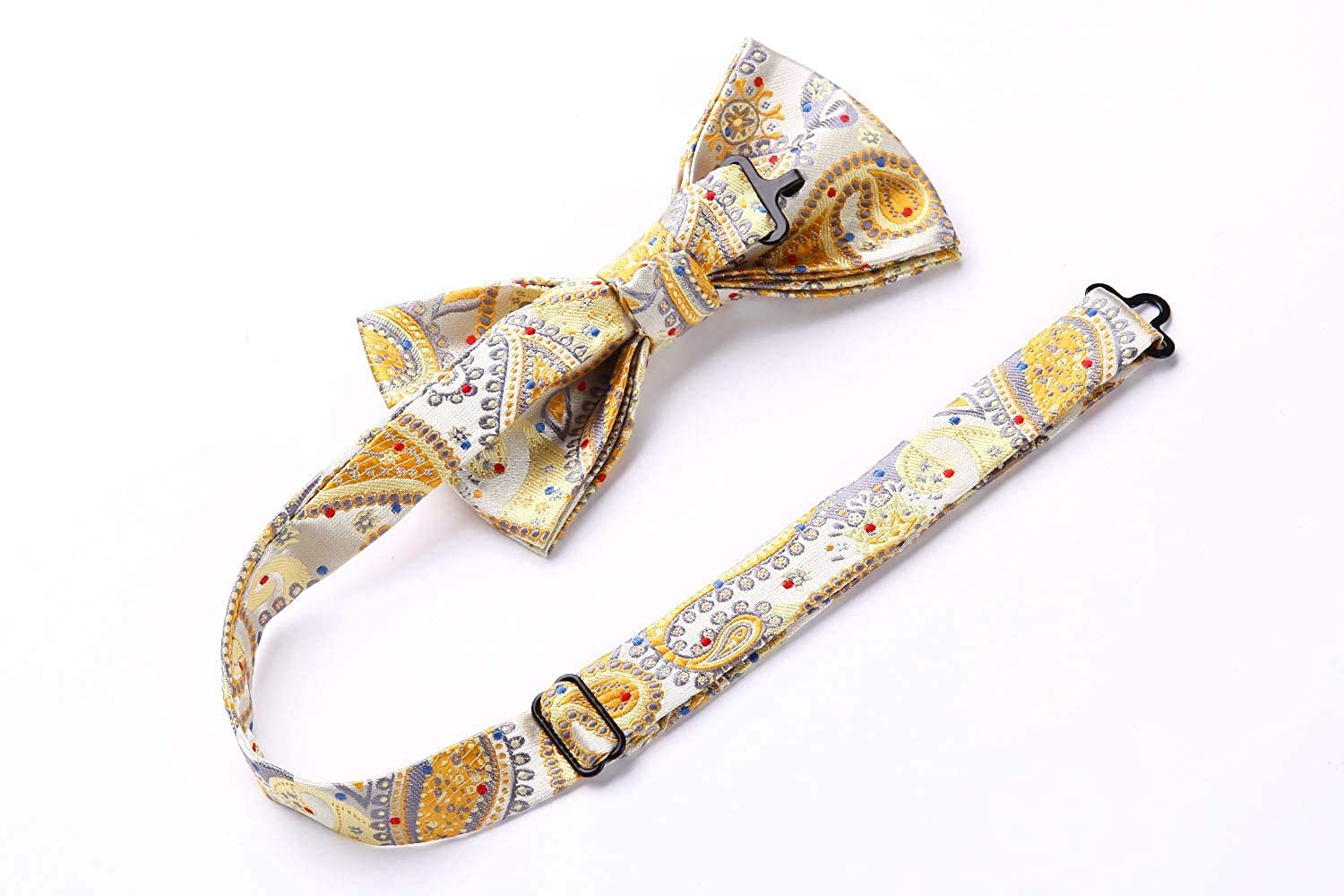 HISDERN Floral Paisley Classic 6 Clips Suspenders /& Bow Tie and Pocket Square Set Y Shape Adjustable Braces SF705APS3
