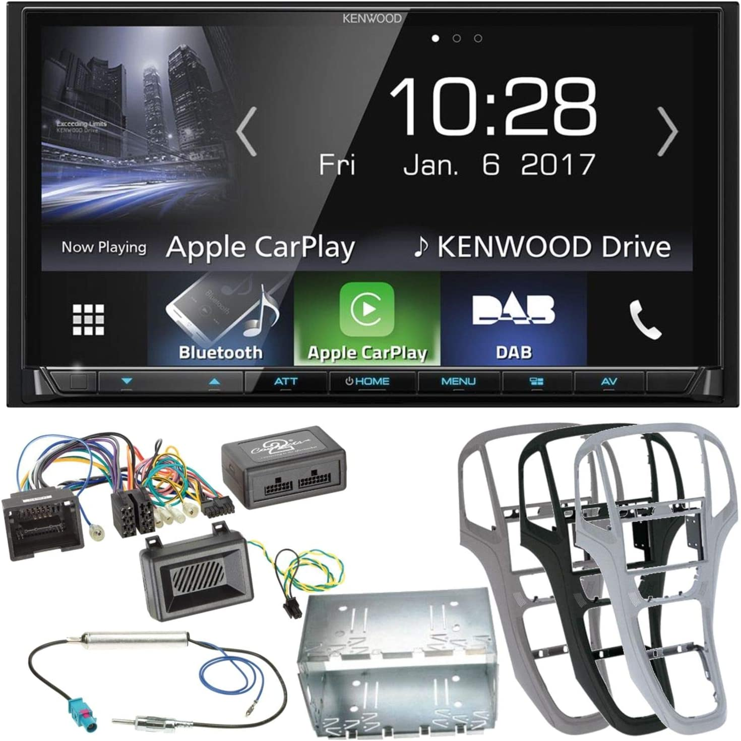 Complete Set For Opel Astra J Kenwood Dmx 7017dabs Elektronik