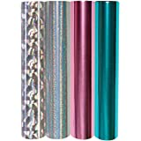 Spellbinders 4 Metallic & Holographic Variety Pack Glimmer Hot Foil Roll, Multi