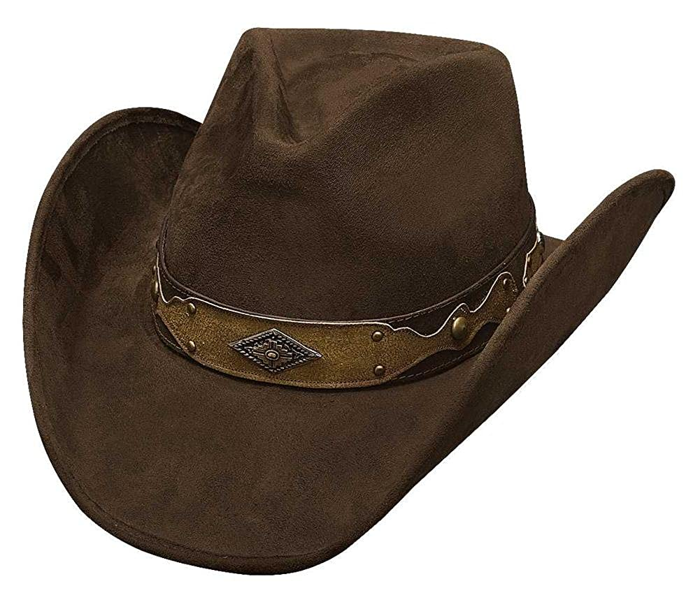 Bullhide Mens Shadow in The Dust Faux Felt Hat Chocolate Large